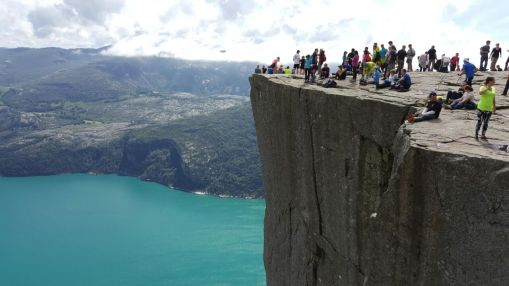 Preachers pulpit, 640 m high Norway